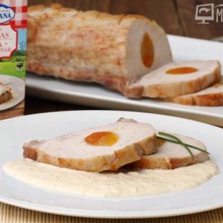 Lomo de cerdo asado con albaricoques 1