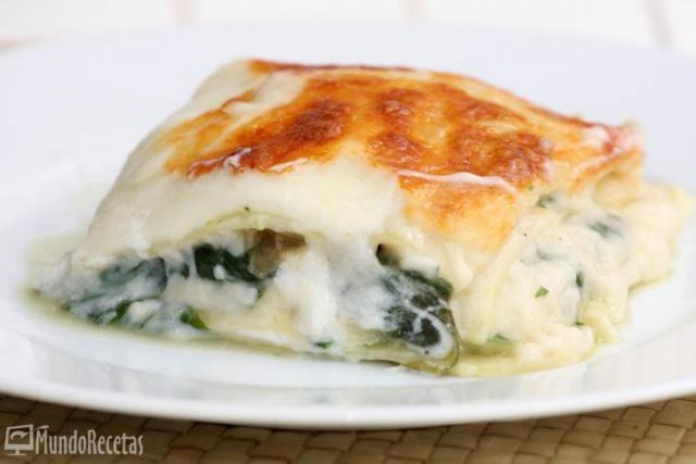 Lasaña de espinacas y queso por Neska