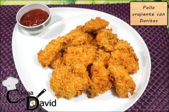 Pollo crujiente con Doritos al horno por Cocina con David