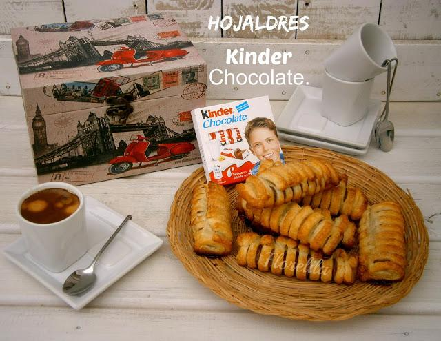 Hojaldres Kinder chocolate por Florelila