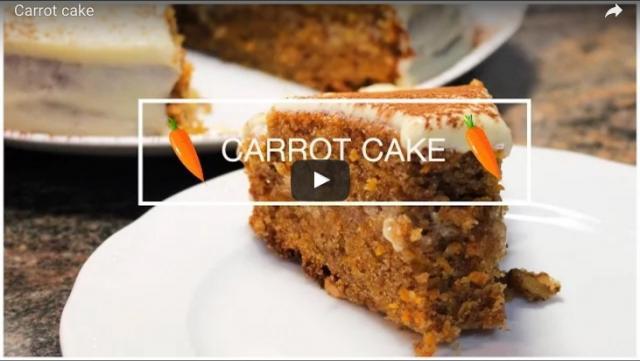 Carrot cake o tarta de zanahoria por NeguCocina