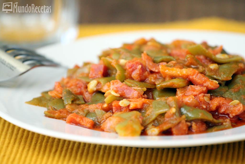 Jud as verdes con tomate jam n y bacon en thermomix - Tiempo coccion judias verdes ...