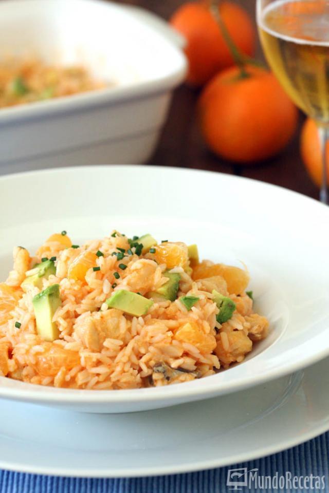 Ensalada de arroz con bacalao y vinagreta de piquillos en thermomix