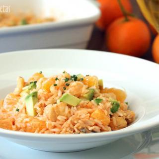 Ensalada de arroz con bacalao y vinagreta de piquillos en thermomix TM5