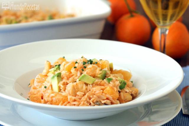 Ensalada de arroz con bacalao y vinagreta de piquillos en TM5