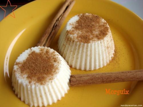 Flan de queso y leche merengada sin azúcar (Thermomix) de Morguix