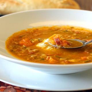sopa-de-verduras-jamon-y-huevo-poche-thermomix