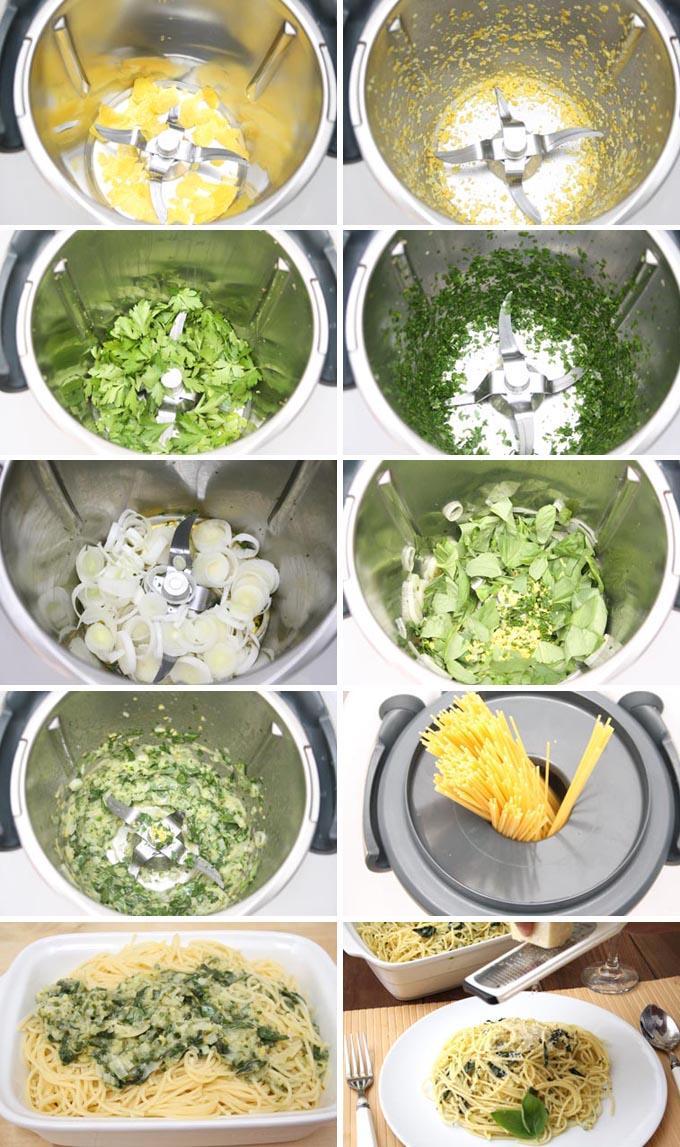 Preparación receta