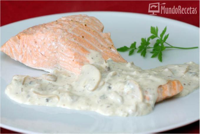 Recetas con pescados mundorecetas - Salmon con champinones ...