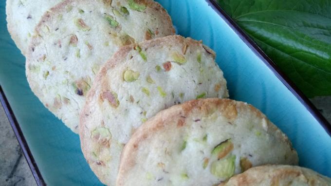 Galletas de pistachos y cítricos por Los Naranjos