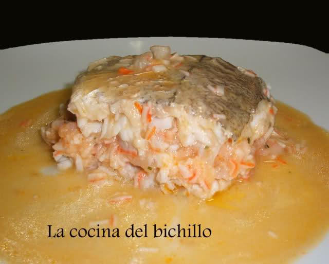 Merluza rellena al horno por Bichillo cocinero