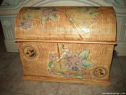Para kannaph cajas de madera - Como decorar un baul de madera ...