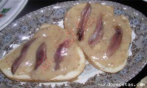 Receta de Canapés de higos o brevas y anchoas