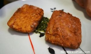 Escalopes de tofu marinados