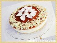Mousse de chocolate blanco con mermelada de P ...