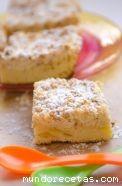 Bizcocho de queso con manzana