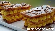 Milhojas con crema pastelera (crema pastelera ...