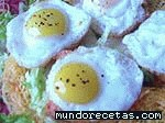 Receta de Canapés de huevos de codorniz