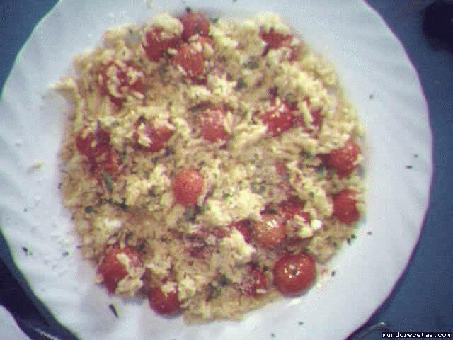 Receta de Arroz con tomatitos cherry asados
