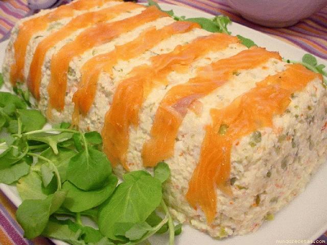 Receta de Corona de cangrejos y huevos