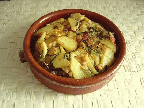 Receta de Tortilla de patatas (sin huevo)
