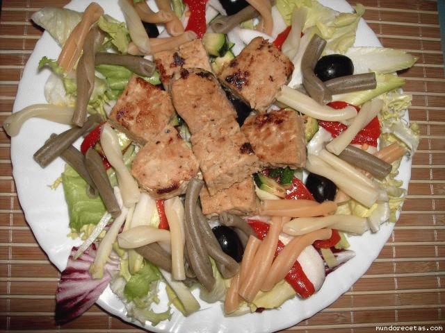 Receta de Ensalada de pasta y tempeh