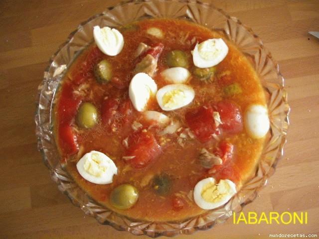 Ensalada de tomate de bote