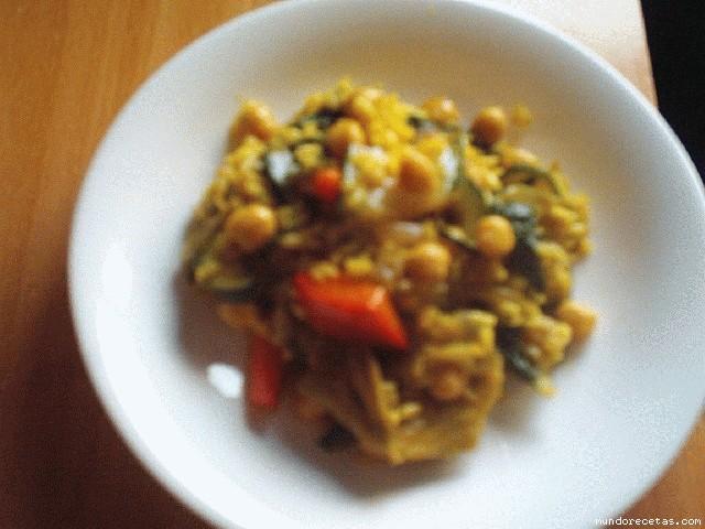Arroz con verduras y garbanzos - Arroz con verduras light ...