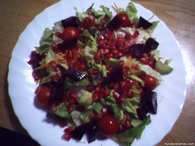 Receta de ensalada multicolor