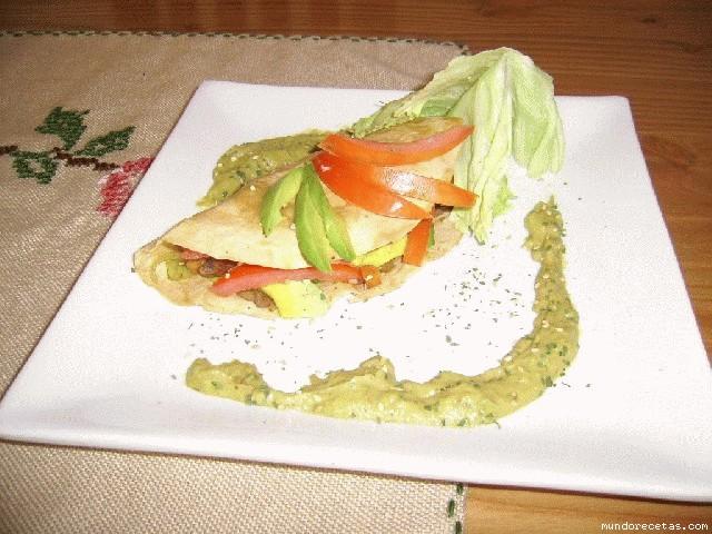 Receta de tacos vegetarianos con guacamole