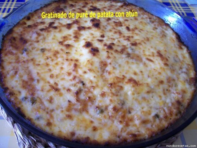 Gratinado de pure de patata con at n - Gratinado de patata ...