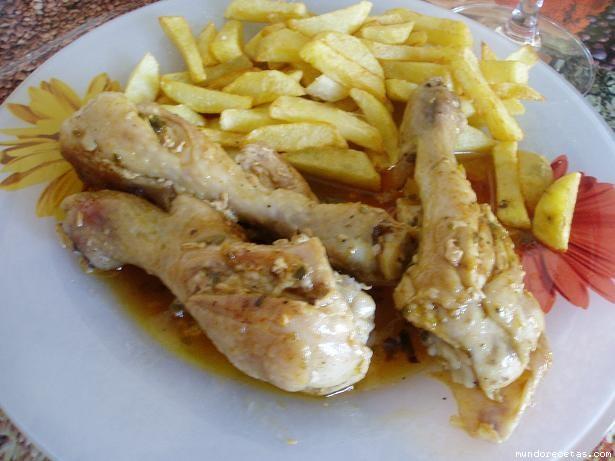 Muslitos de pollo coloraos - Muslitos de pollo ...