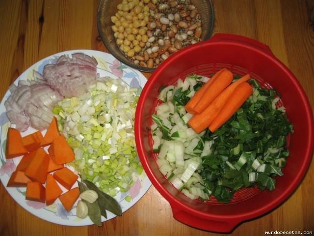 Receta de Arroz Caldoso con verduras y legumbres