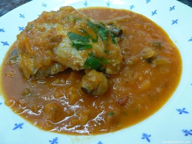 Cuartos traseros de pollo con verduras y champis thermomix for Cuartos traseros de pollo