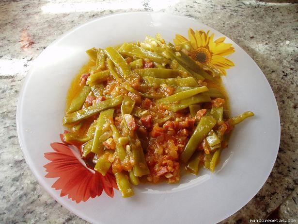 Salteado de judias verdes con jamon chef o matic - Tiempo coccion judias verdes ...