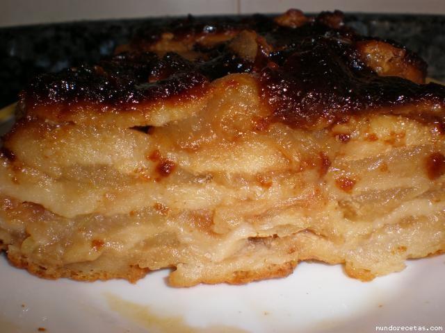 Tarta de manzana y pan - Pure de castanas y manzana ...