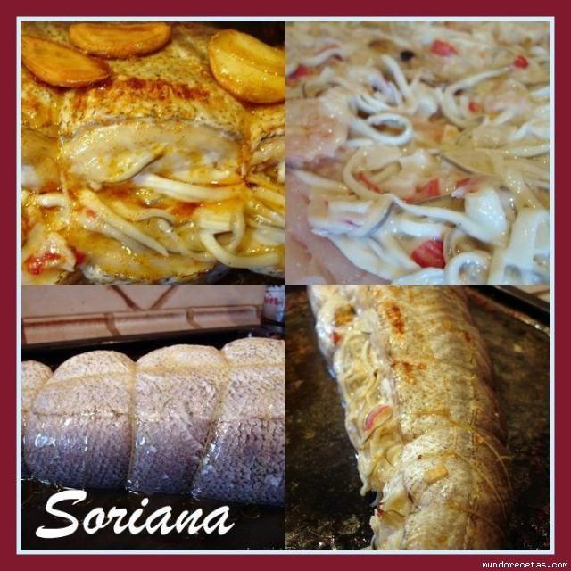 Merluza rellena al horno for Merluza rellena al horno