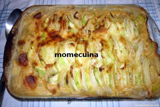 Gratinado de patatas cebolla y calabacines - Gratinado de patata ...