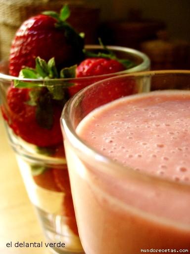 Receta de Batido de fresas (y variantes)