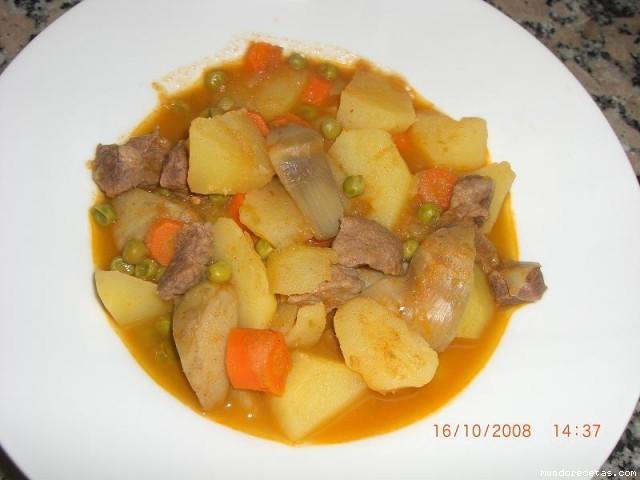 Cazuela de patatas con ternera thermomix - Patatas en caldo con bacalao ...