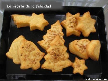 Galletas de queso navideñas