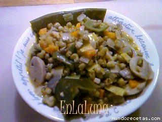 Receta de Guiso de soja verde