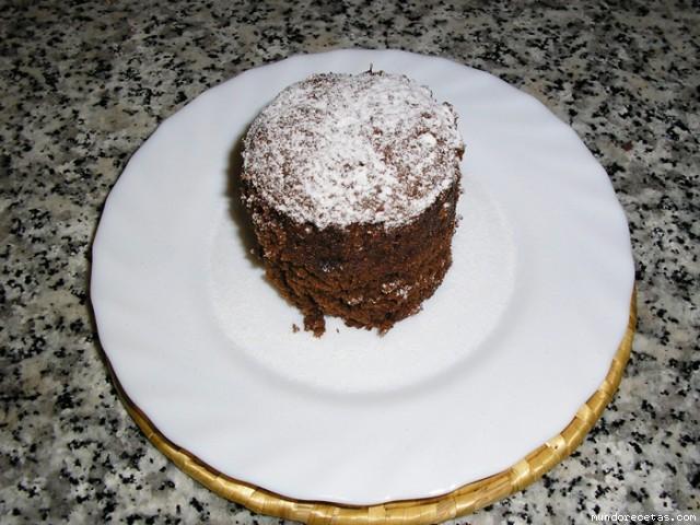 Bizcocho de chocolate en 5 minutos microondas - Bizcocho microondas 3 minutos ...