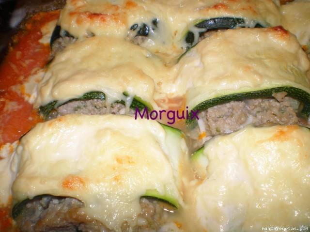 Canelones de calabac n rellenos de carne picada thermomix y tradicional - Canelones en microondas ...