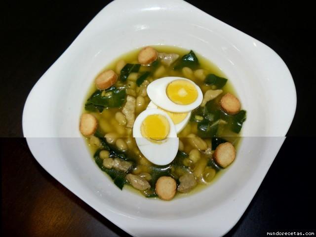 Potaje de alubias arroz y acelgas - Calorias alubias cocidas ...