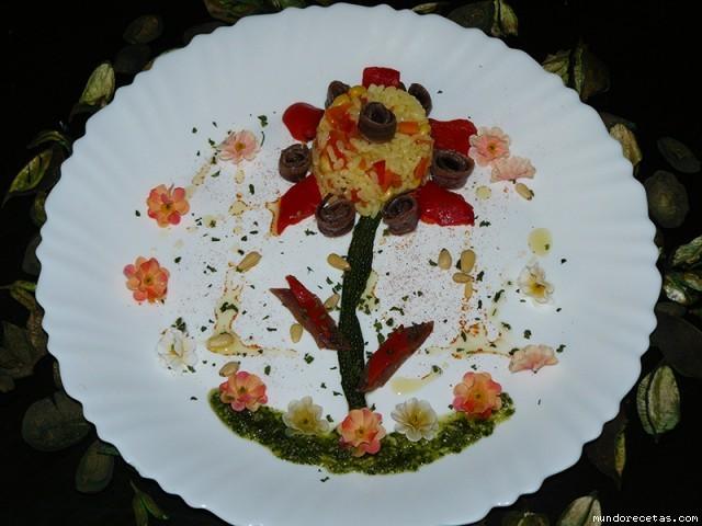 Receta de Ensalada flor