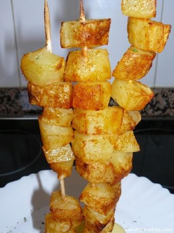 Receta de Brochetas de patata