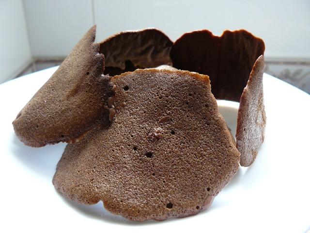 Receta de Tejas de chocolate