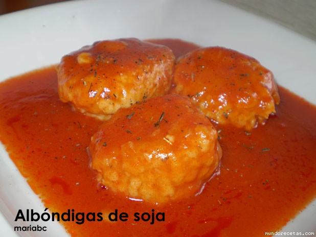 Receta de Albóndigas de soja con tomate (FC)