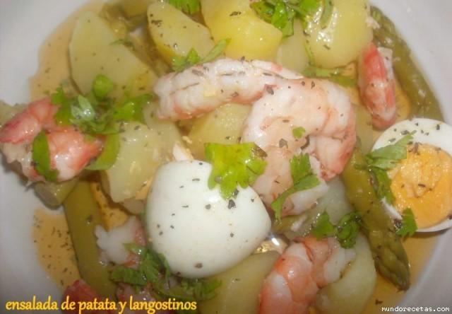 Ensalada de patatas y langostinos de mi casa - Ensalada de langostinos ...